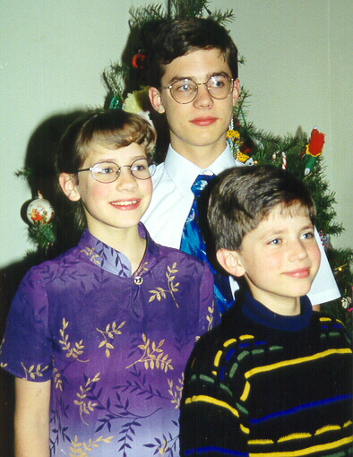 A Christmas photo from oh so long ago. I love Evan's sweater.
