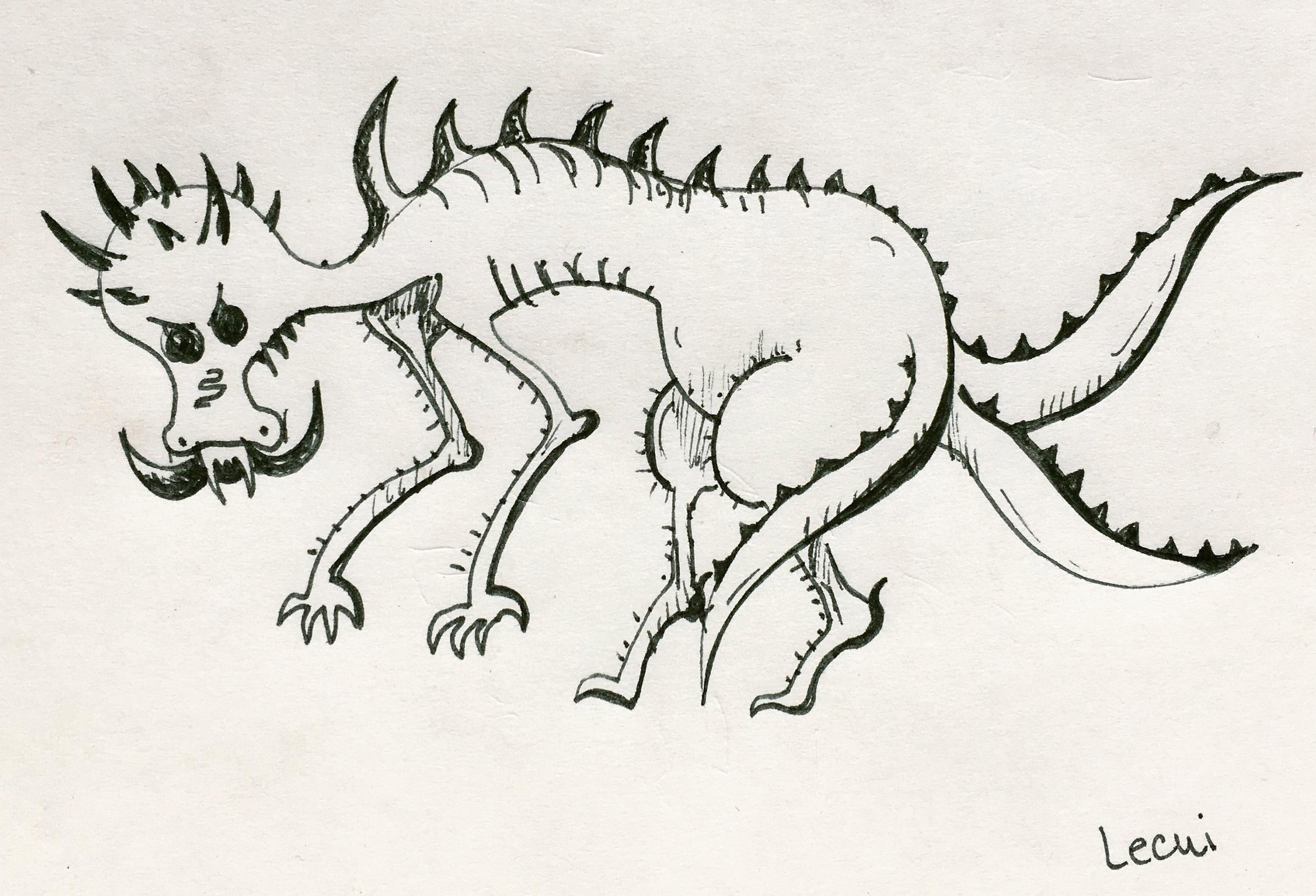 Rough sketch of a lecui.