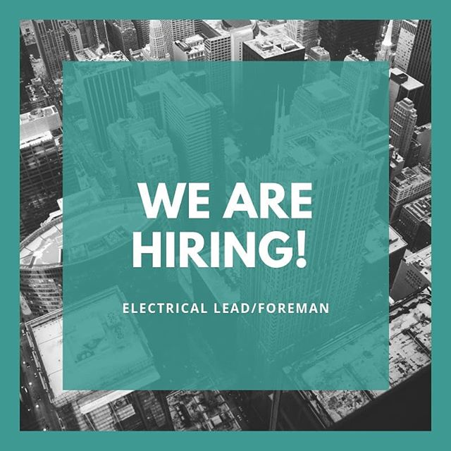 We are hiring for an #electrical lead/ foreman! Join the elite #lntechllc team. Visit our bio and checkout our careers page and apply.  #join #hiring #construction