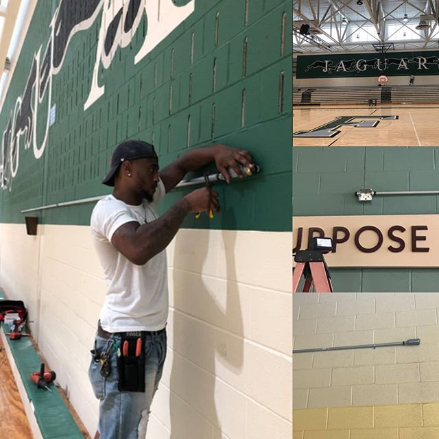 Shout out to Andre one of #lntechllc technicians doing an awesome job installing conduit supporting  CCTV installation throughout all 206 #princegeorgecounty public schools.  #teamwork #contractor #hustle