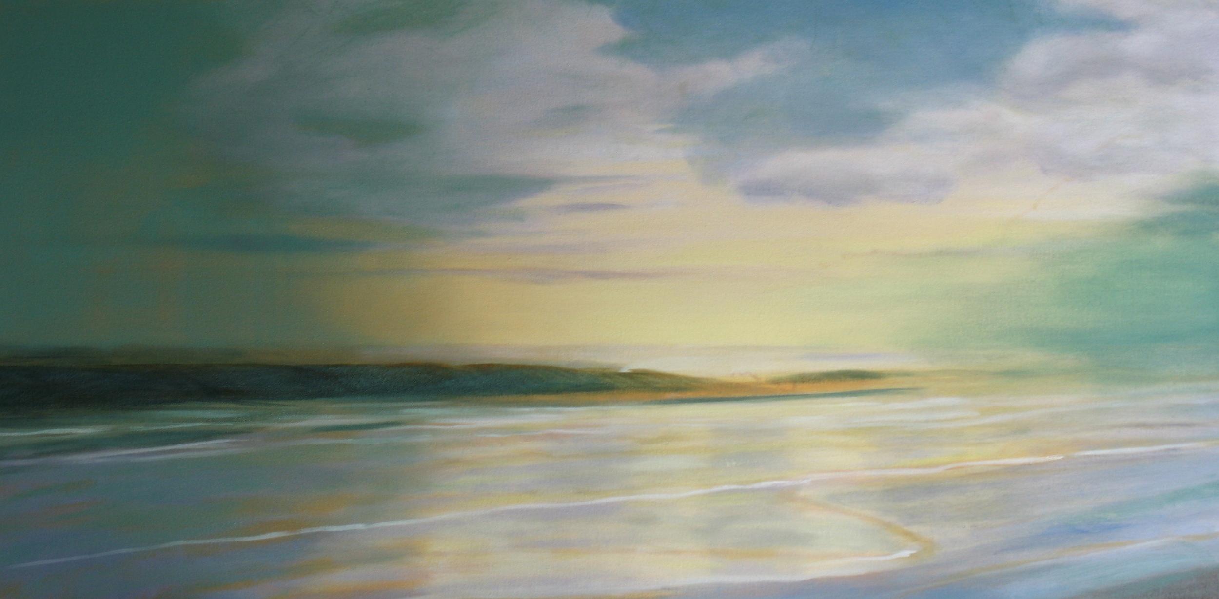 Ocean Waves 3  Oil on Canvas. 20x40