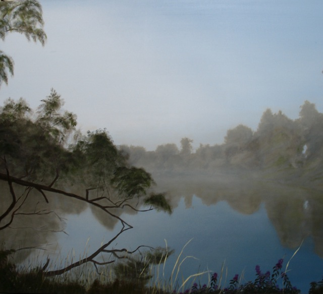 Napanee River Morning  Oil on Canvas. 30x40