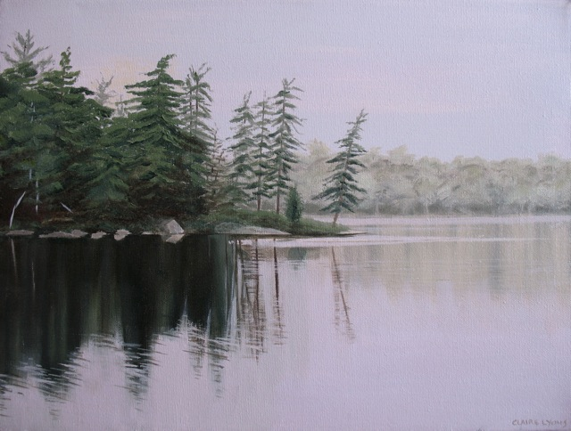 Northern Lake Reflections  Oil on Canvas 12x16 Sold
