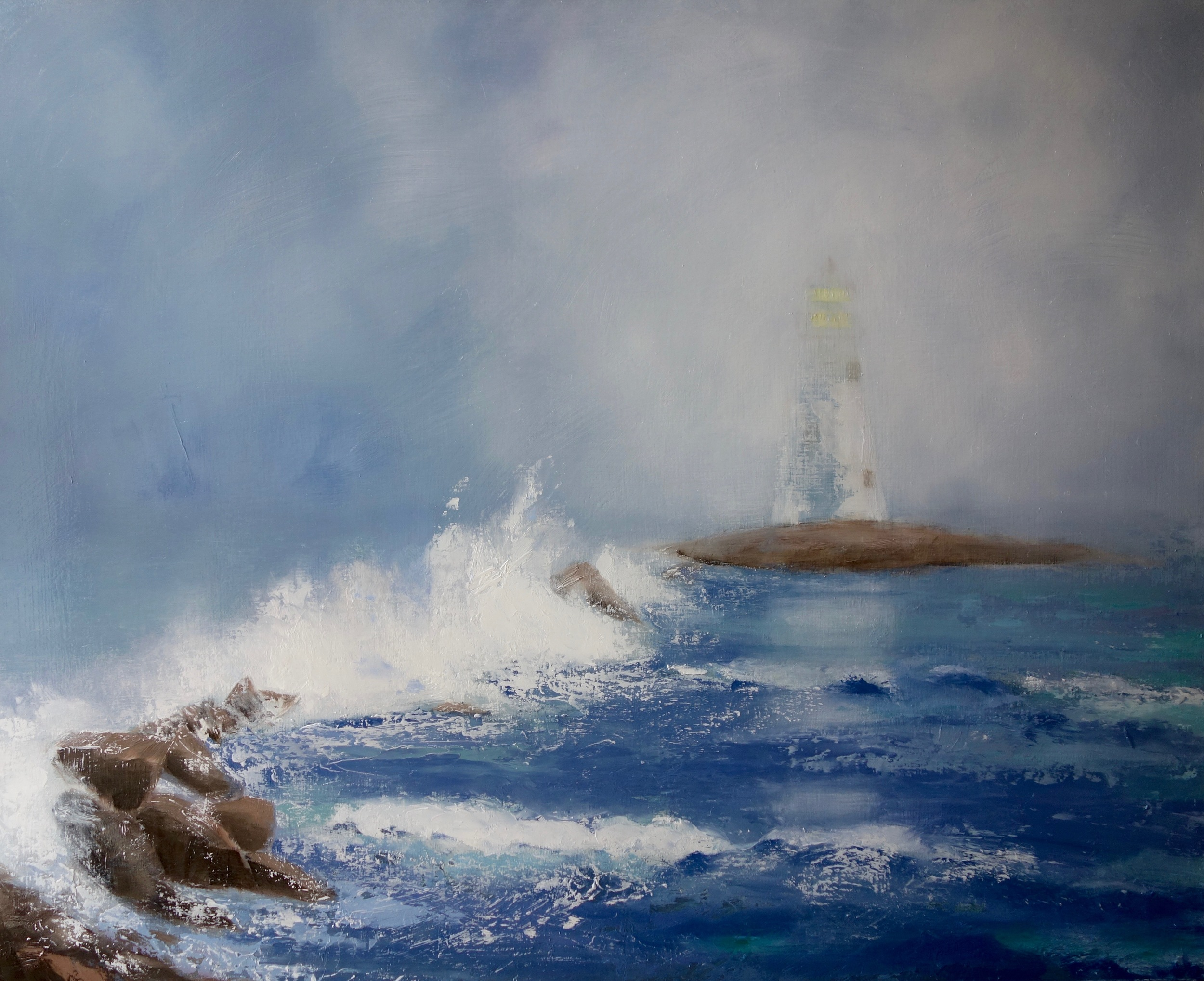 """""""Ocean Love That Cannot Be Contained""""  oil on board 24x30 SOLD"""