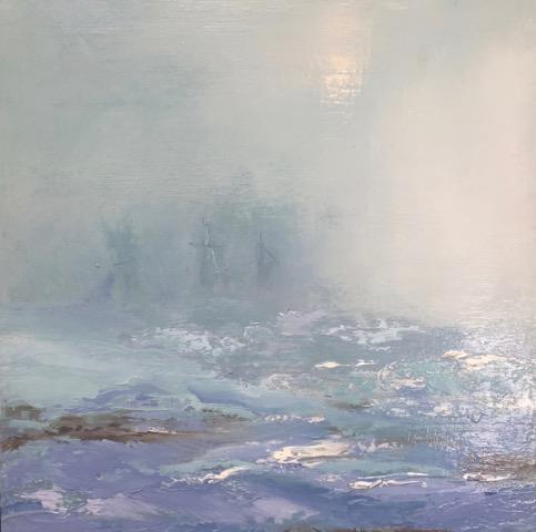 Seascape Series #16  Oil on board 12x 12