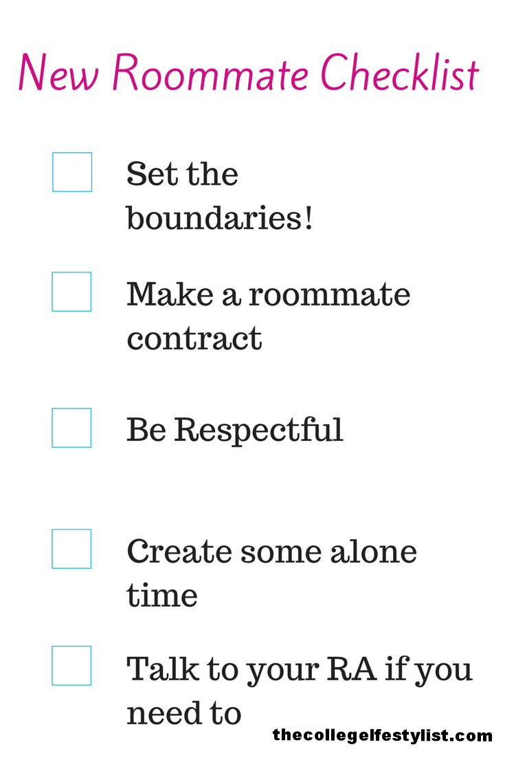 New Roommate Checklist