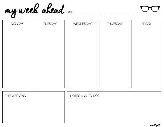 my week ahead