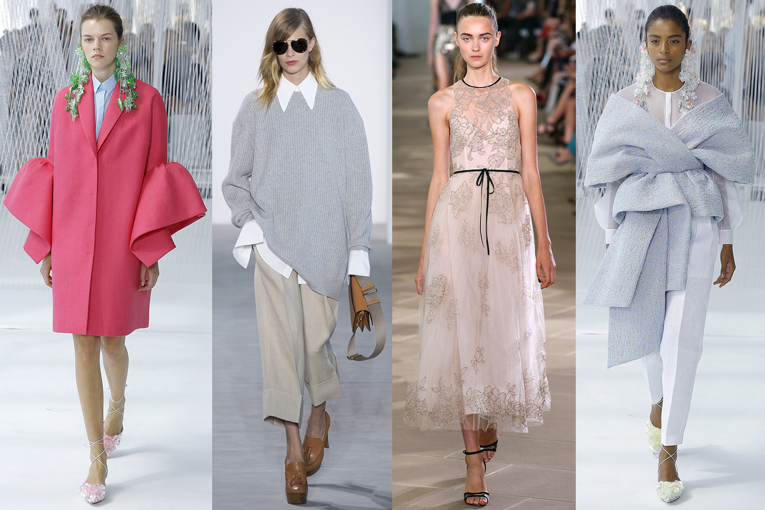 FROM THE LEFT, DELPOZO, MICHAEL KORS, MONIQUE LHUILLIER, DELPOZO  IMAGES COURTESY OF  VOGUE.COM