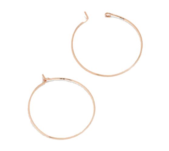 Madewell - Medium 14k Gold-Filled Hoop Earrings