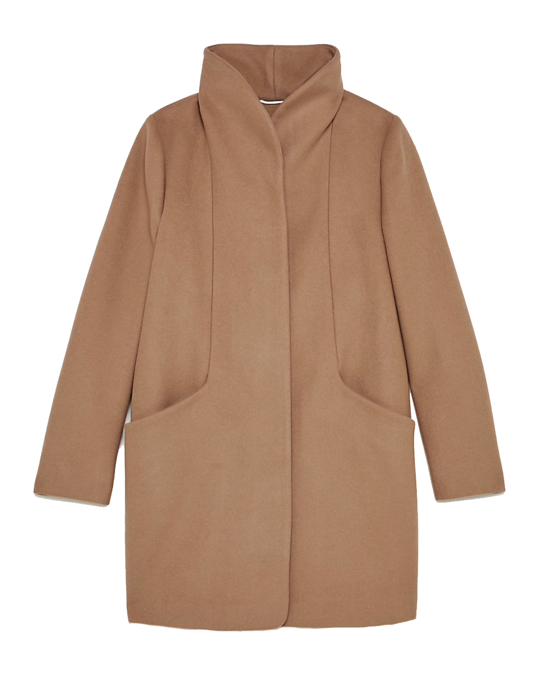 The Virgin-Wool Cocoon - in Gold Camel