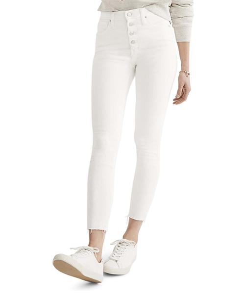 Madewell - 10-Inch Button High Waist Crop Skinny Jeans