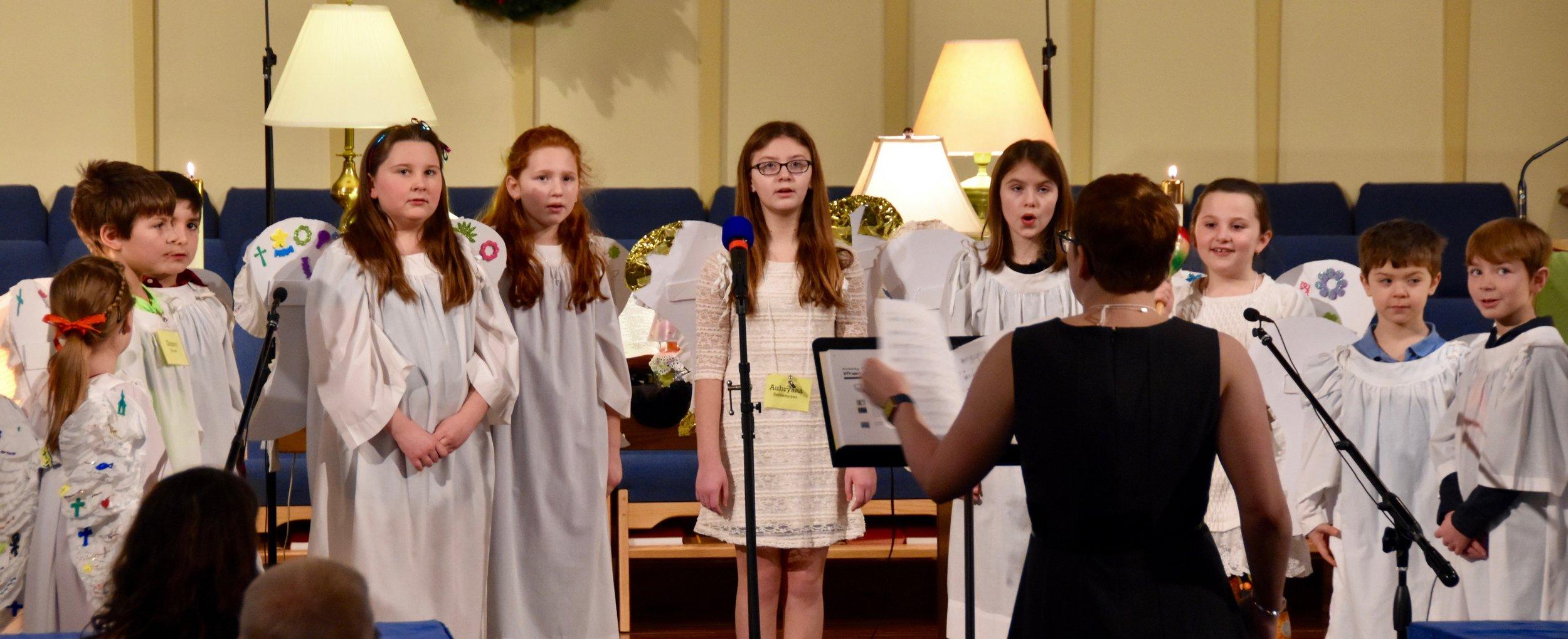 The Joyful Noise Choir in worship.