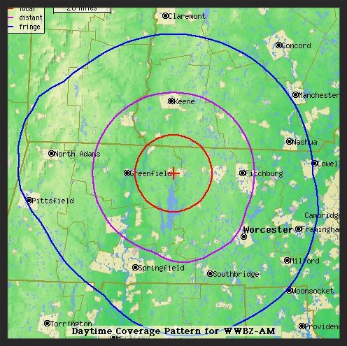 AM 700 Approximate Coverage Area