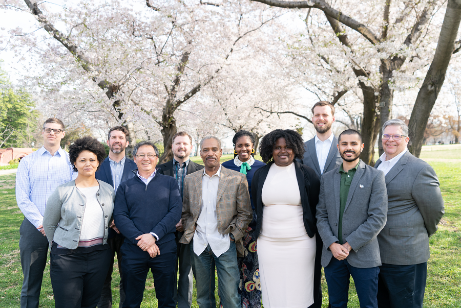 Green Building Division 2019 (from left to right): Christina Mischel, Rafael Palomino-Ramirez, Robert Campbell, Ashley Delgado, Ali Alaswadi, (Top Row) Kristian Hoffland, Dave Epley, Bryan Bomer, Kiaria Henderson, David Kaiser, and Mike Brown
