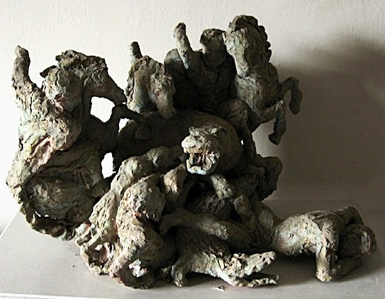 "After Rubens (animals)  Patinaed Terracotta  16"" x 24"" x 15"""