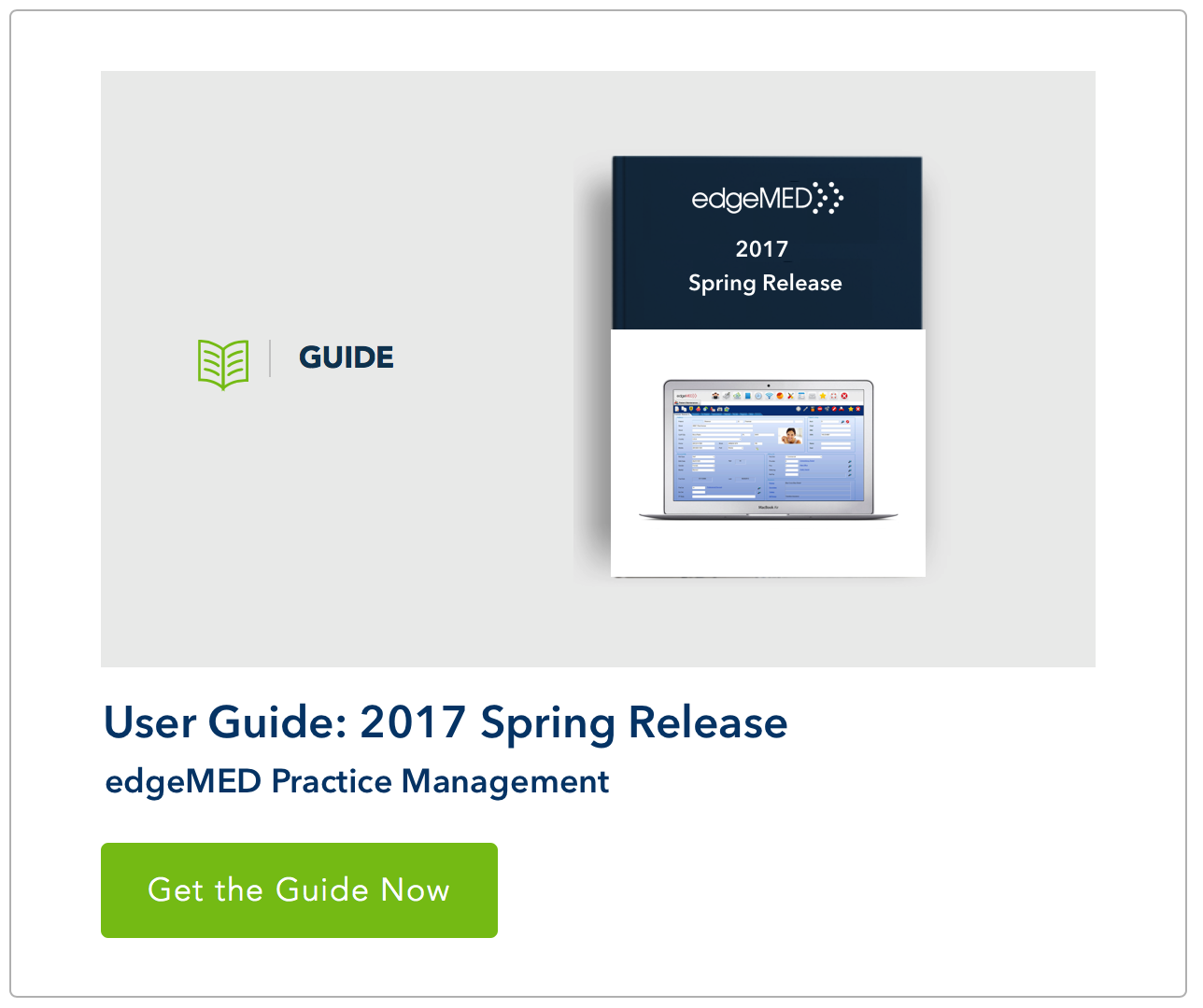 edgeMED Spring 2017 Release Guide