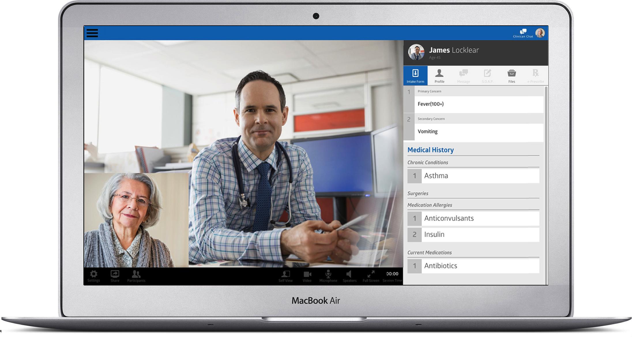 Telehealth on Macbook
