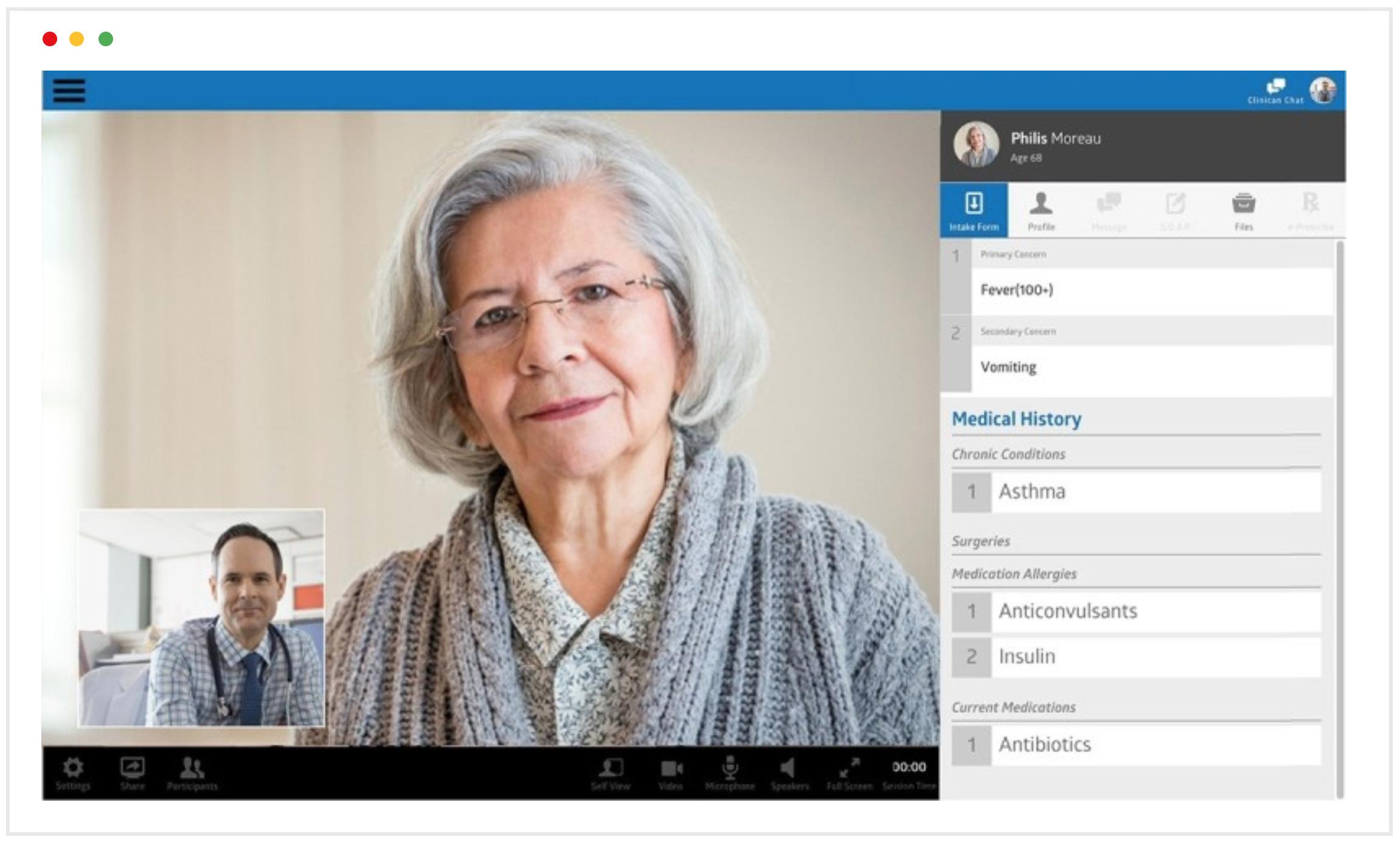 telemedicine Provider view