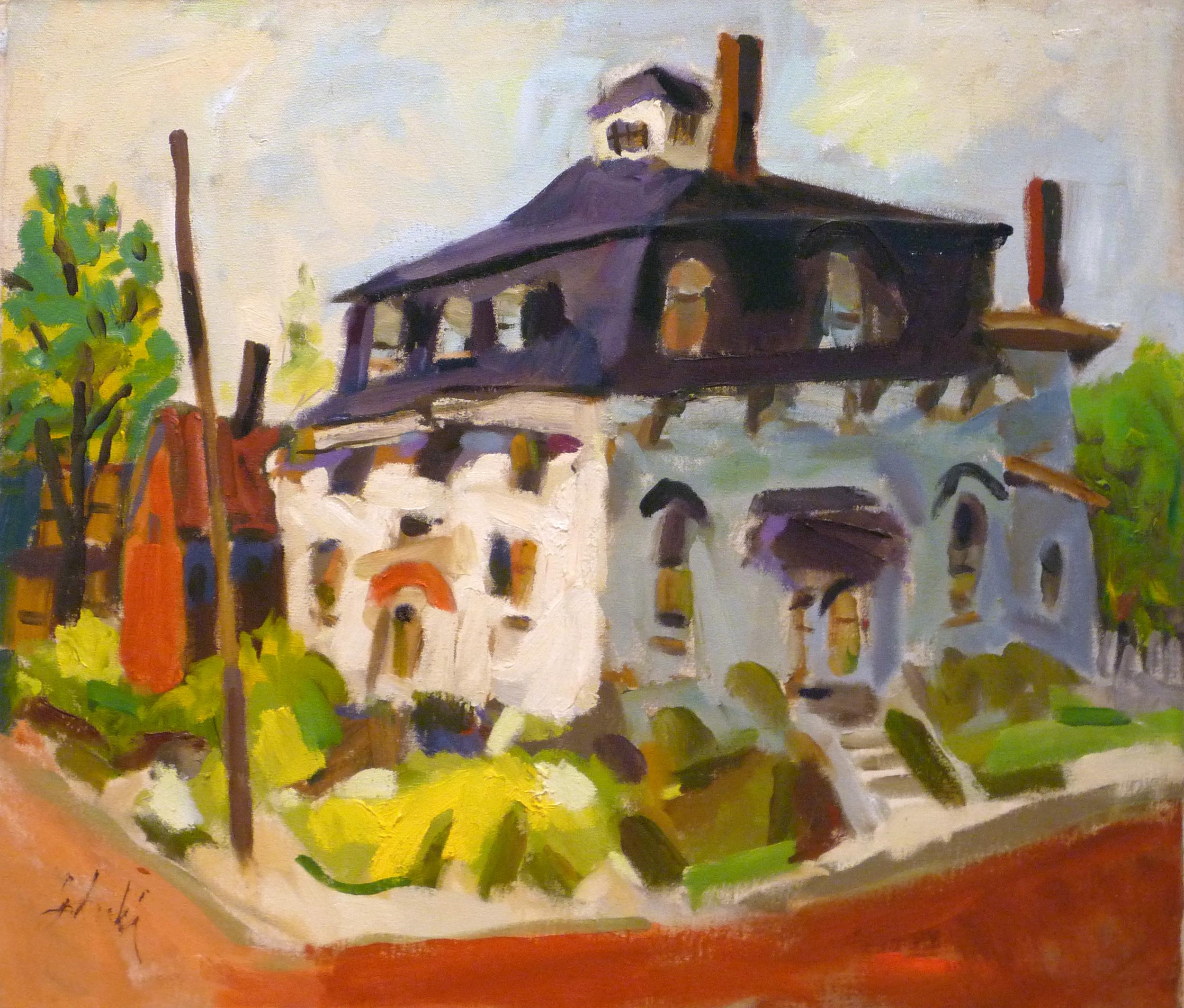 Zygmund Jankowski-House on the Corner-oil on canvas-24x28.jpg