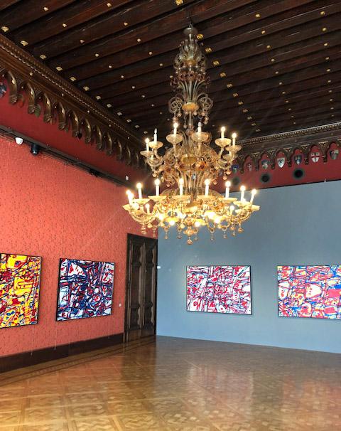 Installation view of  Jean Dubuffet & Venezia
