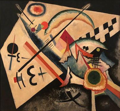 Vasily Kandinsky,  White Cross.  Oil on canvas. June- July 1922.