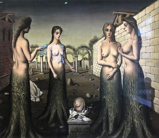 Paul Delvaux,  The Break of Day . Oil on canvas. 1937.