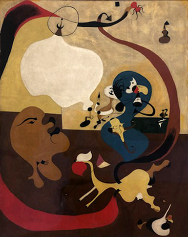 Joan Miró,  Dutch Interior II.  Oil on canvas. Summer 1928.
