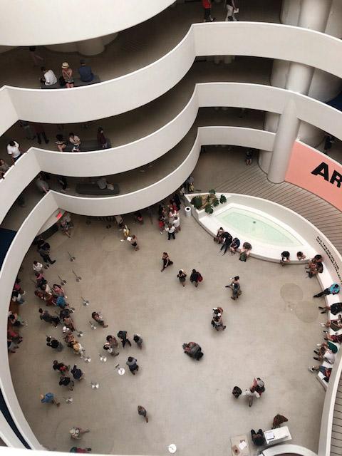 Interior view of the Guggenheim Museum, New York