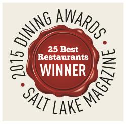 Pago named as one of 25 Best Restaurants in Utah 2015 by Salt Lake Magazine.