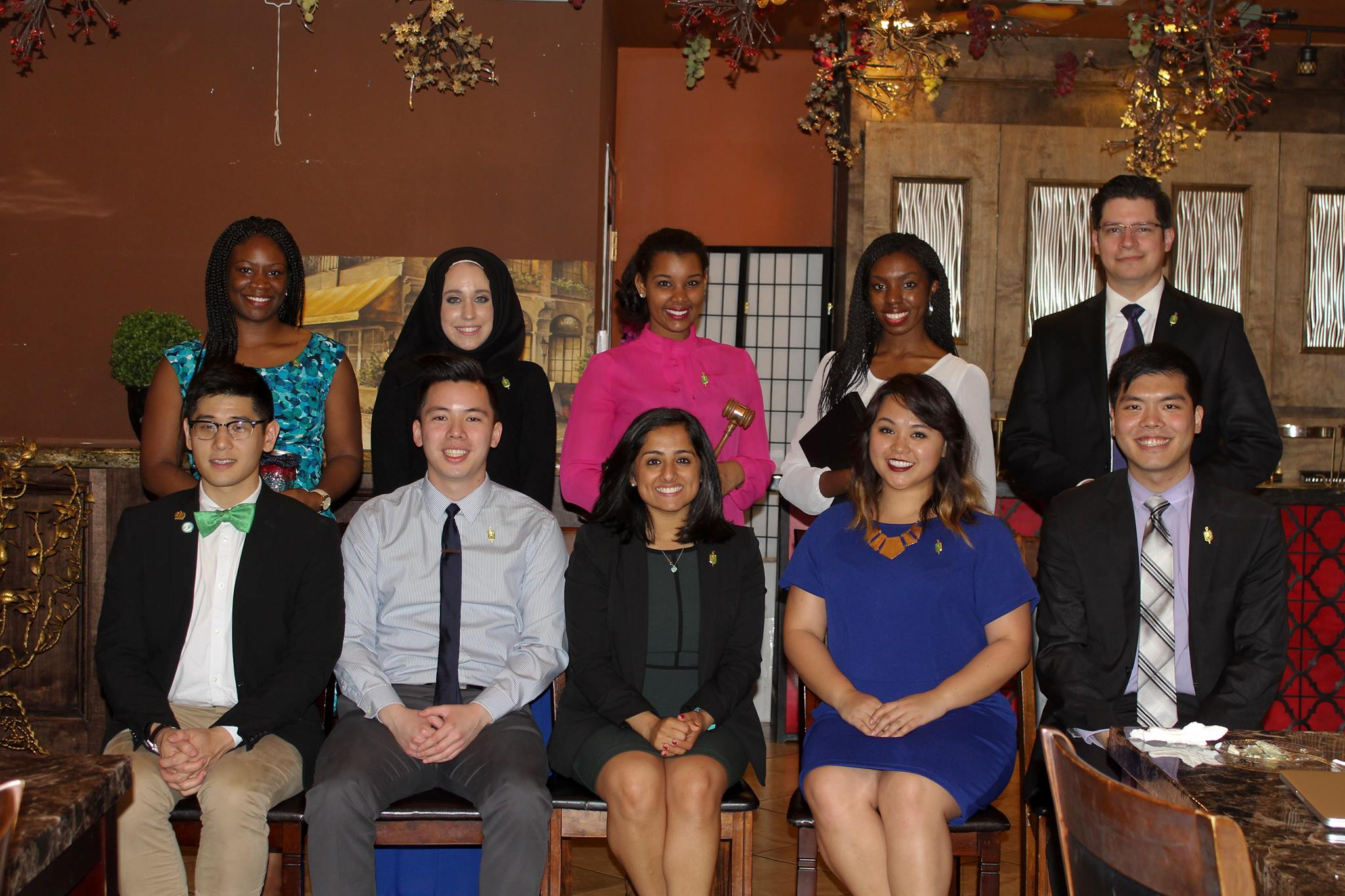 2016-2017 Officers  (standing)     2015-2016 Officers  (seated)