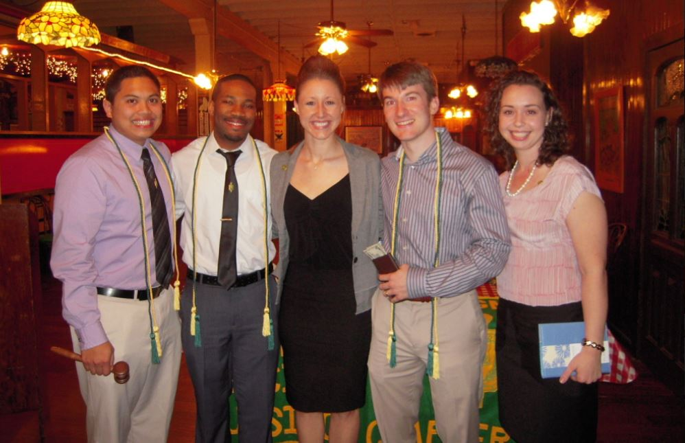 2012-2013 Officers L-R: Anthony Dima-Ala, Danny Jean, Melanie Laine, Austin Dobbs, Linda Ehilg