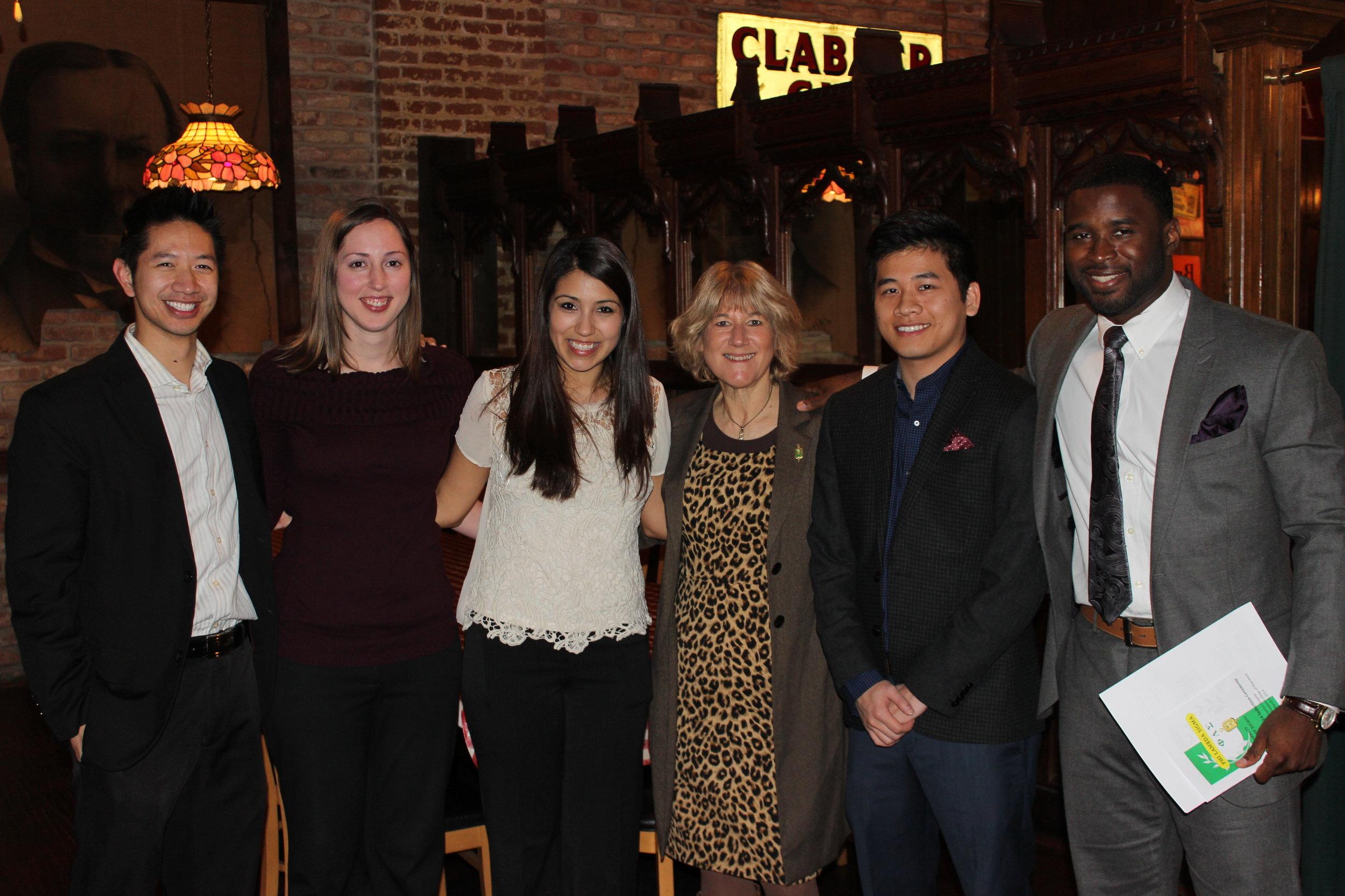 2013-2014 Officers L-R: Daniel Nguyen, Rachel Eppinette, Tara Molina, Dr. Lynn Simpson (Advisor), Tam Nguyen, Osagie (Tony) Ohonba
