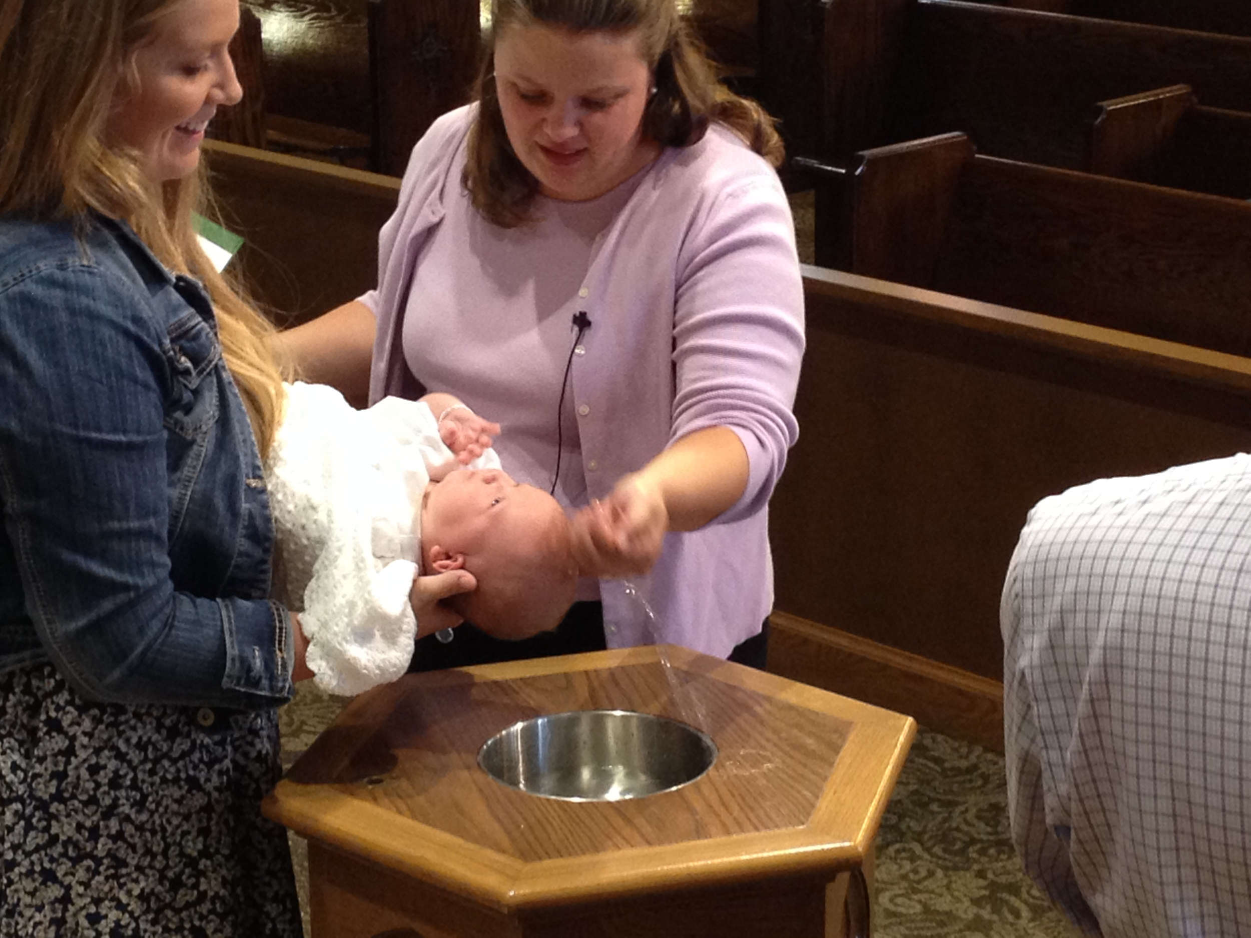 Baptisms happen during regular worships services of the congregation and are celebrated for the gift of God poured out through water and Word. Through baptism, God claims us and makes us children of God. St. John's offers regular Pre-Baptism classes for those interested in scheduling a baptism.