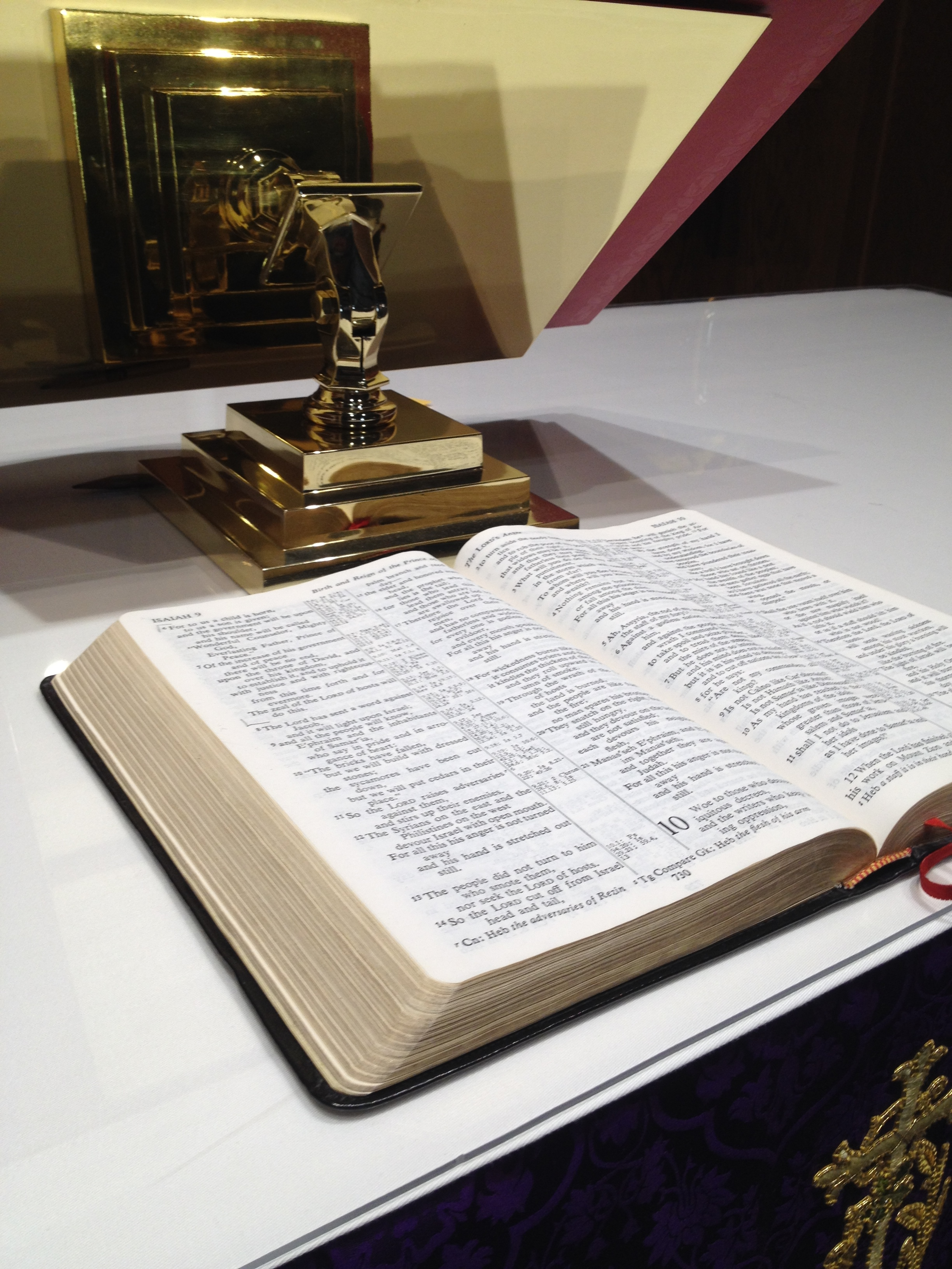 God's word comes to us through scripture and proclamation. St. John's follows a Narrative Lectionary for regular readings in worship and uses the New Revised Standard Version as the preferred bible translation for worship.