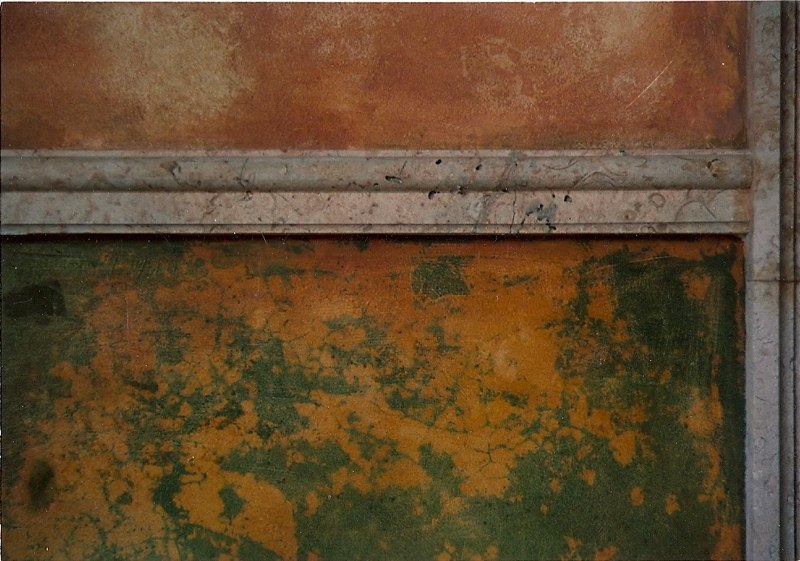 Painted Courtyard - highly distressed paint