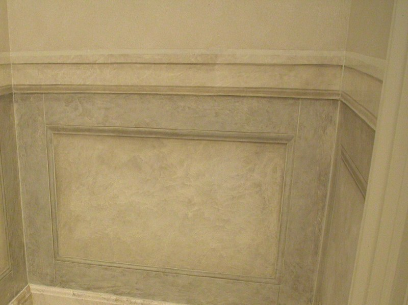 Marble Wainscot & Trompe L'oeil Paneling
