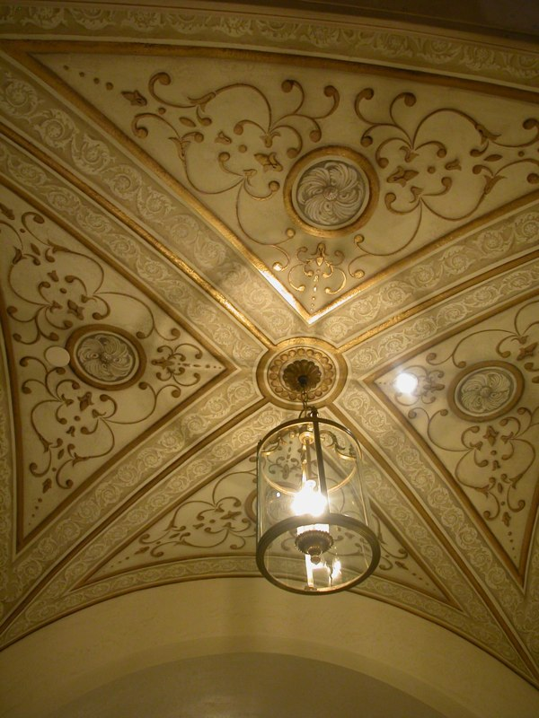 Painted, Stenciled, and Gilded Ceiling