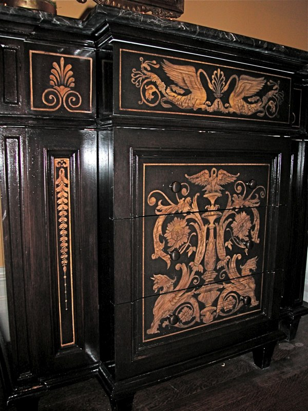 Copy of Painted Vanity with Faux Inlay