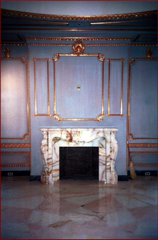 Distemper Glazes with Water Gilded Moldings
