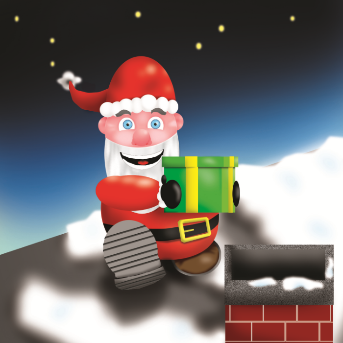 Virtual Santa --- [LEGAL USE OF THIS PHOTO LICENSED AND SECURED VIA DREAMSTIME - November 2014]