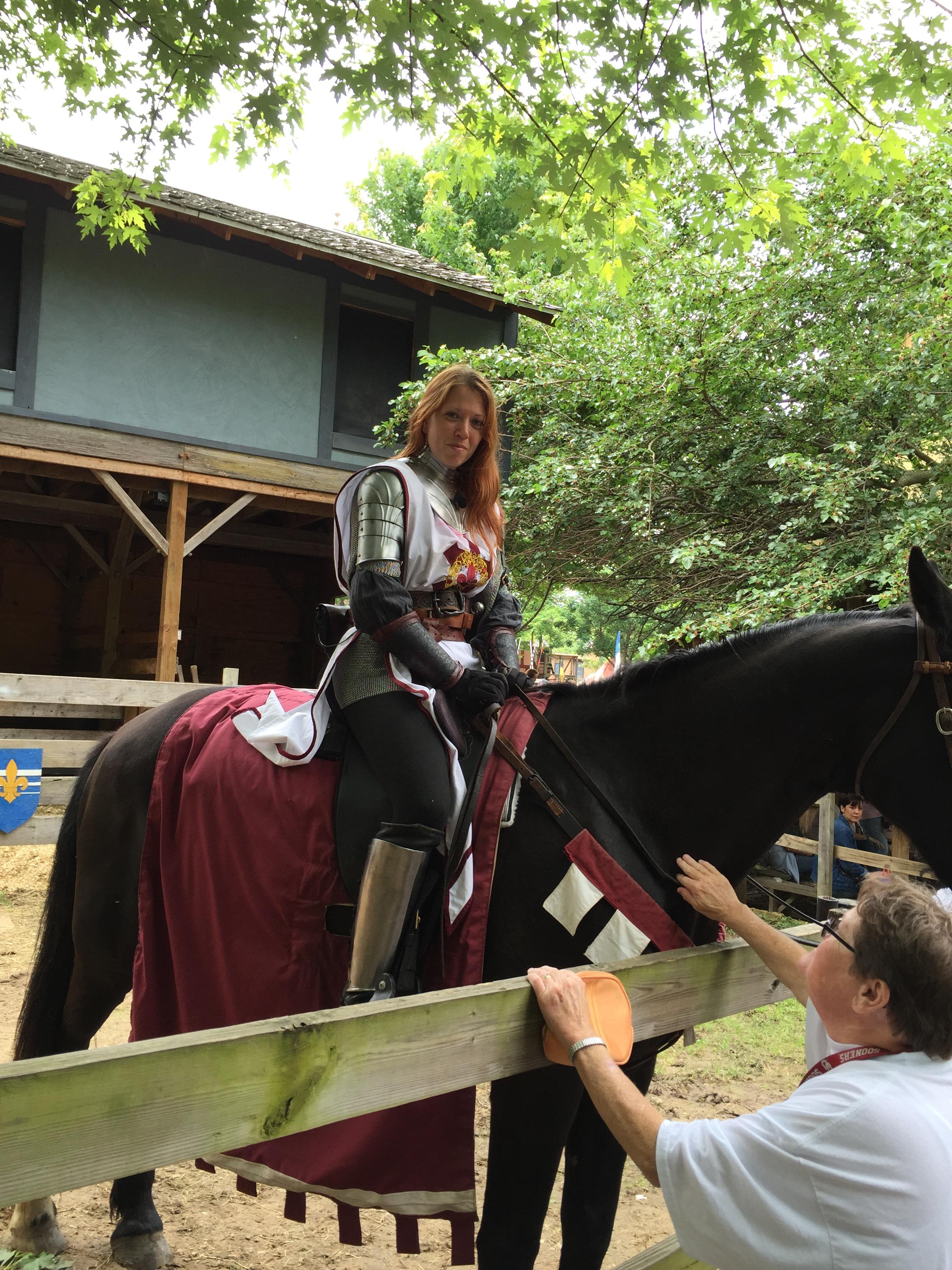(Lady Knight on Horseback -- PHOTO COPYRIGHT 2015 BY JAZ PRIMO)
