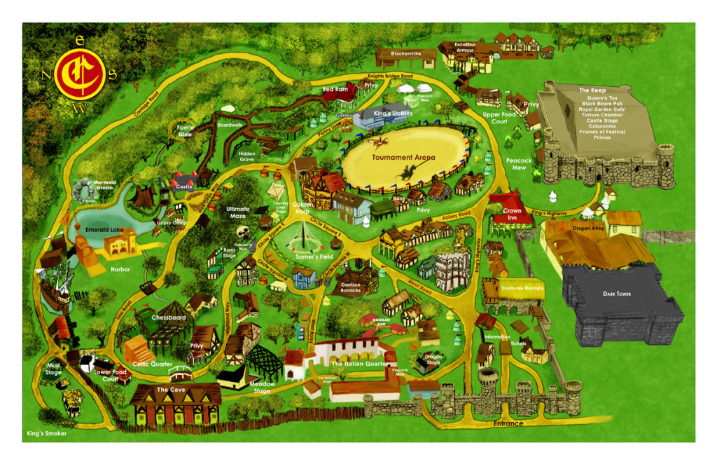 (Map of castleton - Image used from Oklahoma Renaissance Festival official website - 2015)