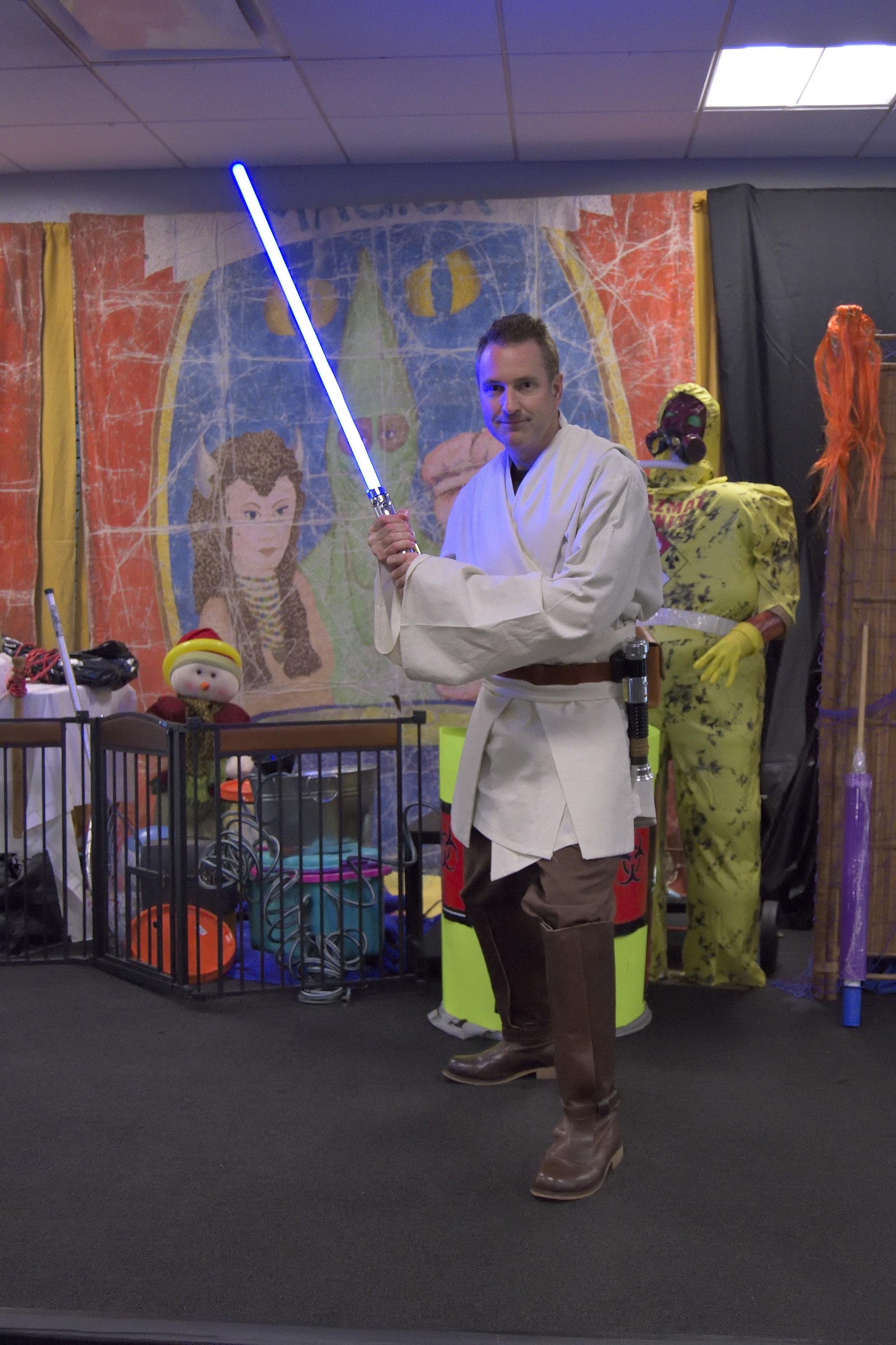 Jaz's 2016 Halloween Costume was a Jedi Knight -- Obi-Jaz Kenobi