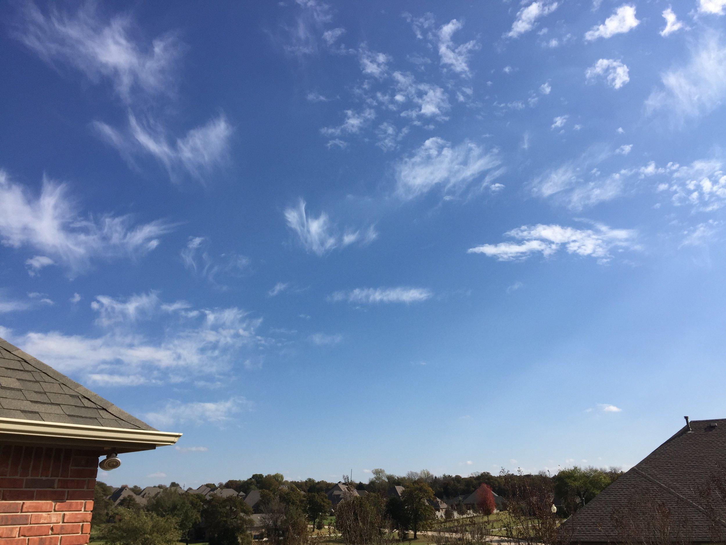 [Blue Skies Above Jaz's Home -- PHOTO COPYRIGHT 2016 BY JAZ PRIMO]