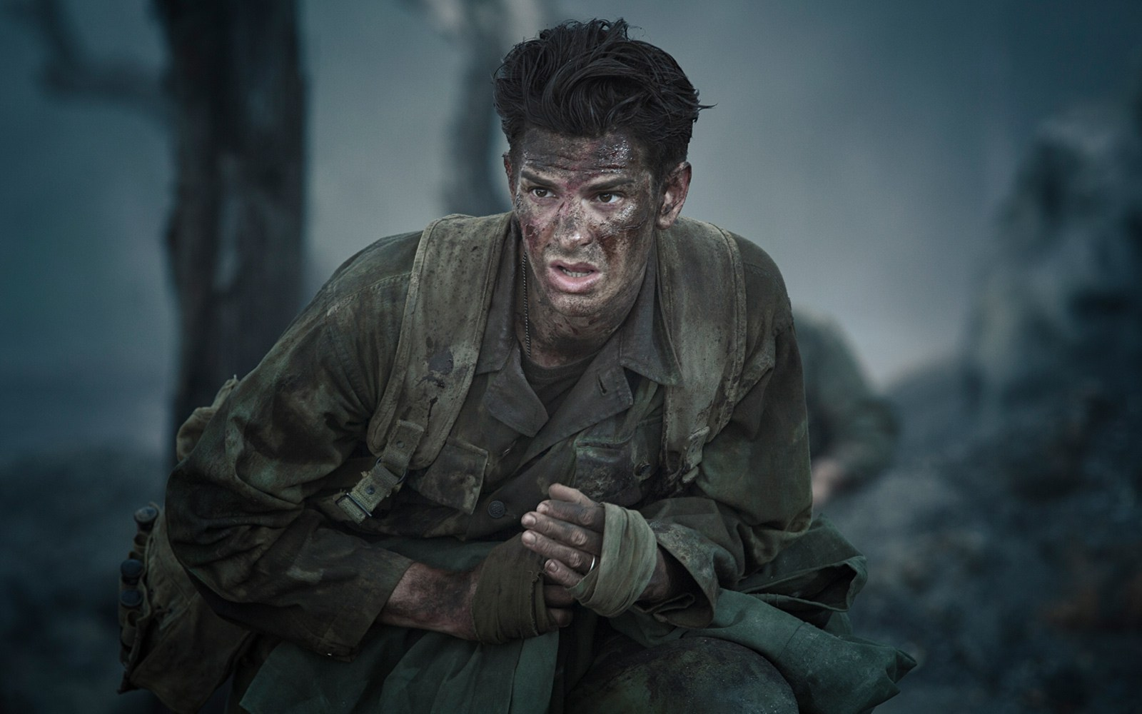 Andrew Garfield as Private Desmond Doss.