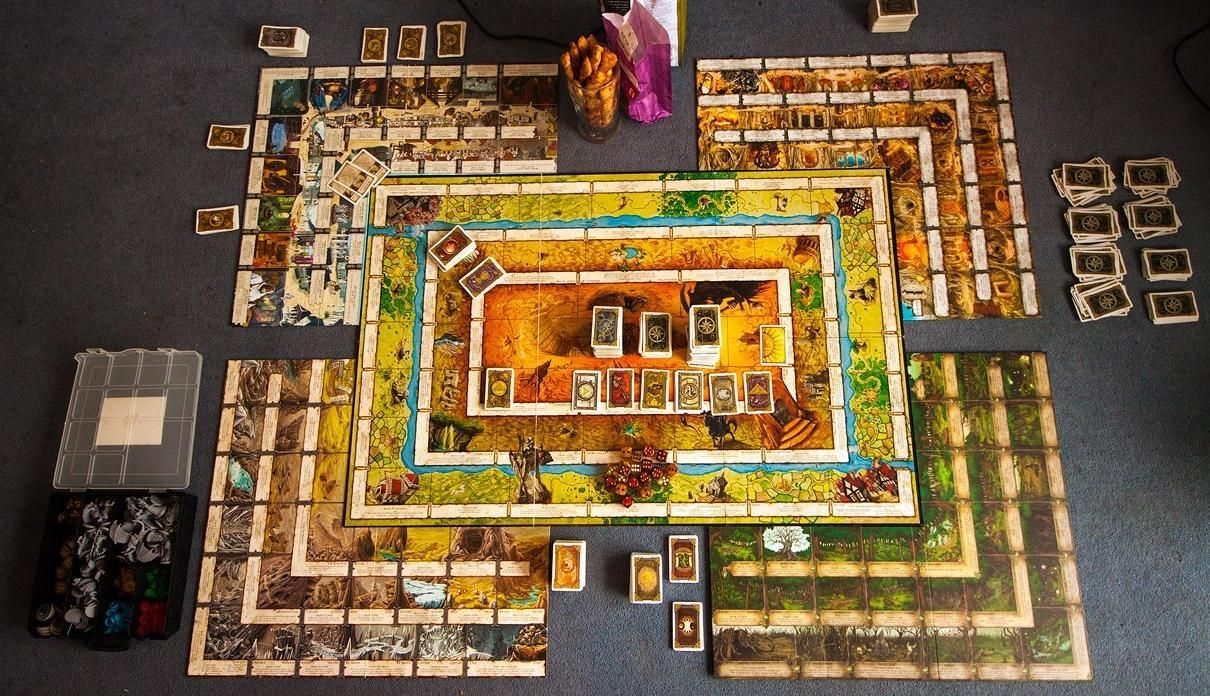 The Talisman board game complete with the four major expansion set panels.