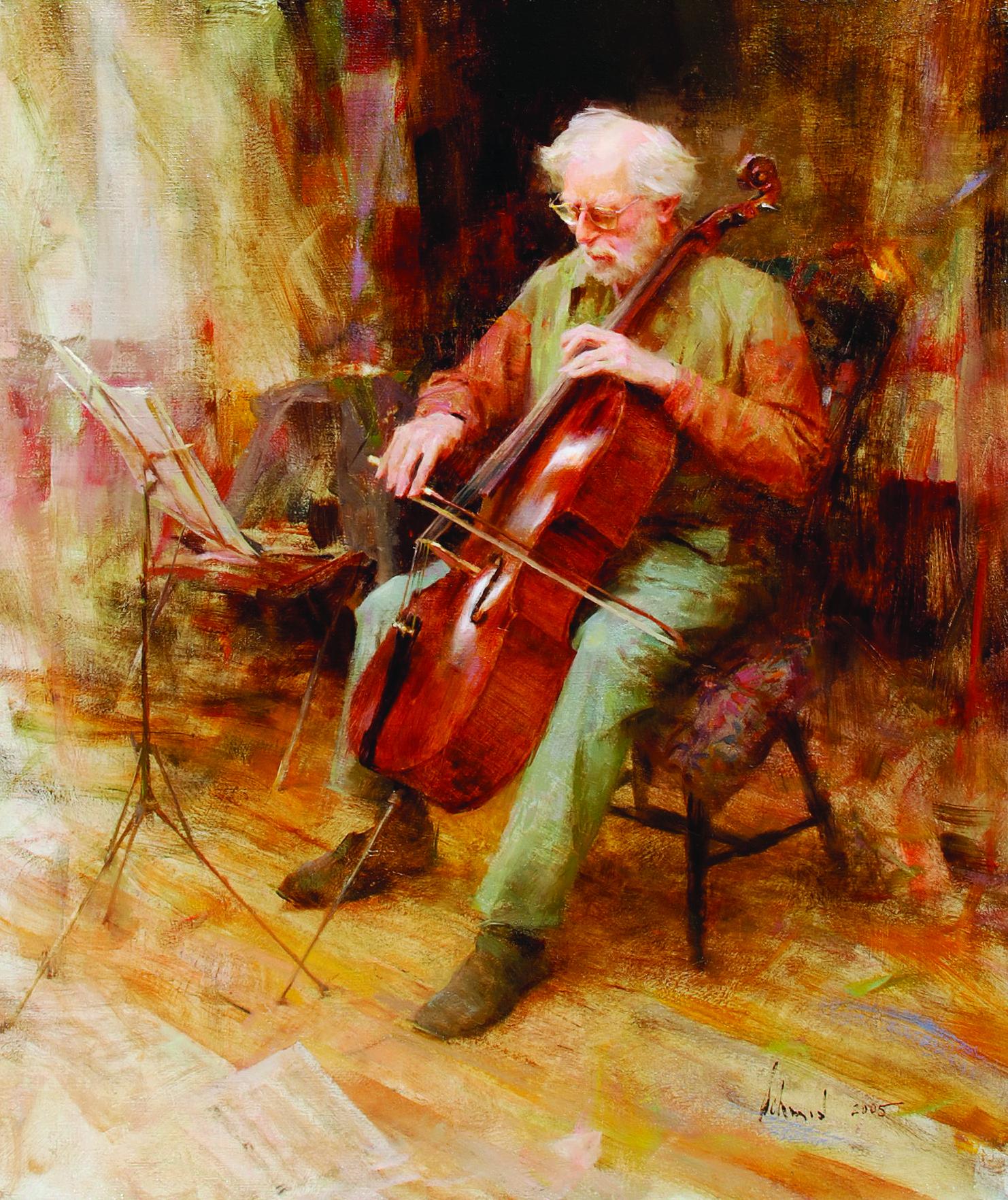 Richard Schmid_David Wells, Cellist_2005_oil on canvas_26 x 22 in._$85,000.jpg
