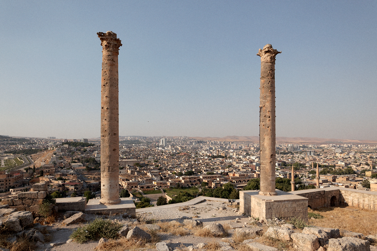 Colonnes corinthiennes sur la citadelle d'Édesse