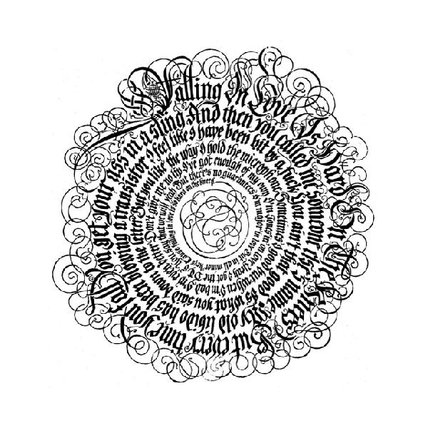 Hand-lettered lyrics by Aerosmith for CD booklet