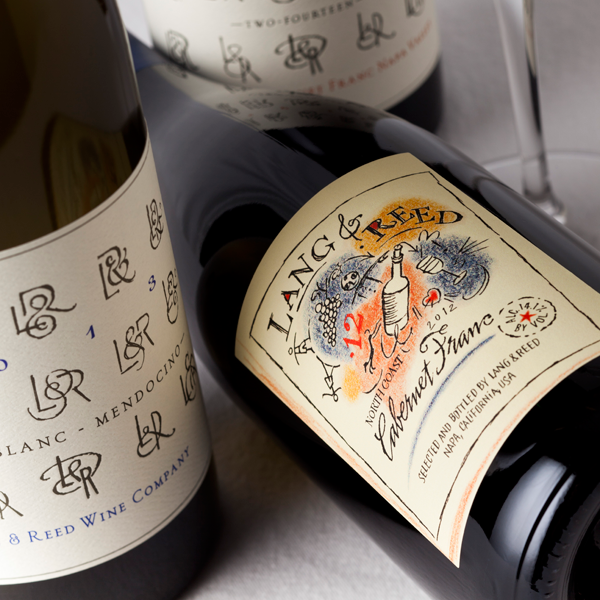 Lang & Reed wine label design